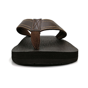 7197ae9504d3 Amazon.com  KuaiLu Men s Yoga Mat Leather Flip Flops Thong Sandals ...