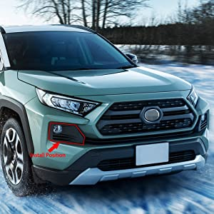 Beautost Fit For Toyota New RAV4 2019 Adventure Model Chrome Front Fog Light Lamp Cover Trim Trims