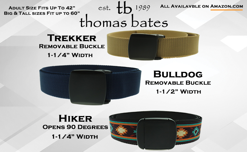 48d6469779a Hiker Belt Saltwater Fish Patterns Made in USA by Thomas Bates ...