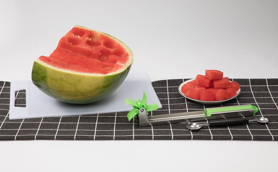 Vanitc Stainless Steel Watermelon Slicer Cutter