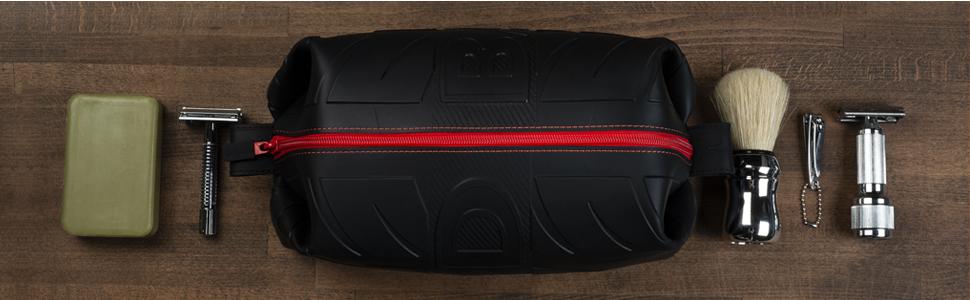 ff440c740a3a Wurkin Stiffs Leak Resistant Silicone Dopp Bag The D-Bag Black