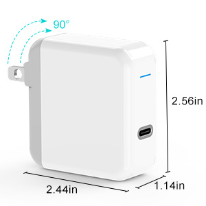 USB C Charger for 2018 iPad Pro 12.9 Gen 3, iPad Pro 11, MacBook Pro, MacBook Air, MacBook 12 inch, 45W Thunderbolt 3 Port USB C Power Adapter with ...