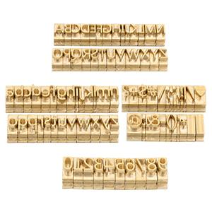 copper letter set