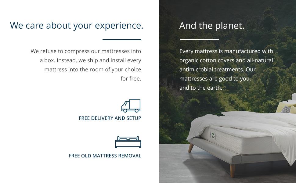 saatva company, saatva, mattress, mattresses, planet, care, experience