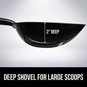 2 in deep shovel large scoops