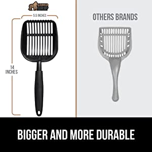 larger and thicker than other scoopers comparison image