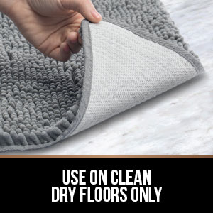 use rug on clean dry floors only do not use on a wet floor always check to ensure underside is dry