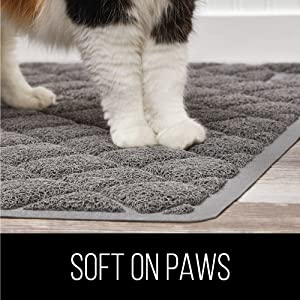 soft and comfortable on cat paws
