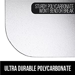 heavy duty unbreakable and unbendable polycarbonate material is ultra durable sturdy and superior