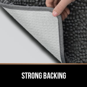 strong tpr rubber backing durable holds up in dryer and washing machine for easy use and care