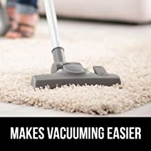 makes vacuuming easy