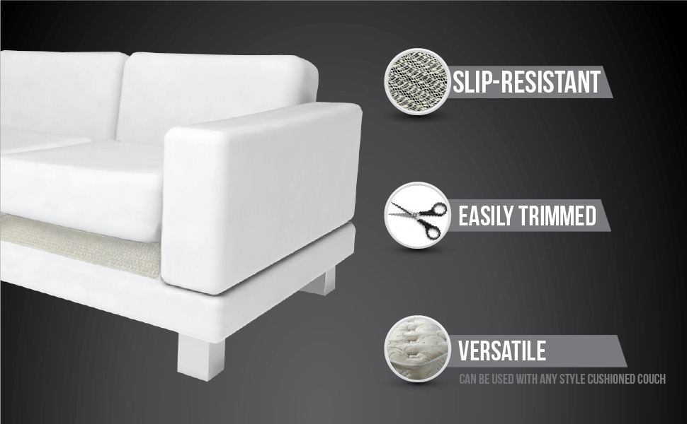 Wondrous Gorilla Grip Original Slip Resistant Couch Cushion Gripper Pad Helps Keep Sofa Cushions From Sliding Grip Pads Work On Sofas And Couches Easy To Pabps2019 Chair Design Images Pabps2019Com
