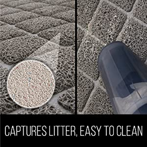 captures litter and easy to clean