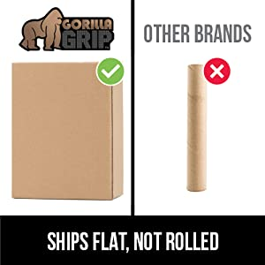 chair mat for hard floor surfaces ships flat in box unlike competitor brand that is rolled