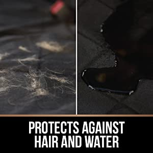 protects against pet hair sticky long hairs dirty mud easy to clean clumps of hairs drool scratches
