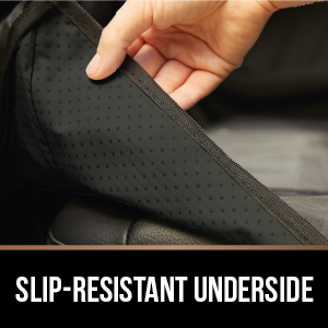slip-resistant skid-resistant non-slip grippy grip underside secure on seats reduce movement no move