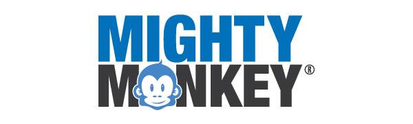 mighty monkey logo registered