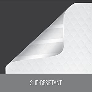 slip resistant and designed to stay in place through the night