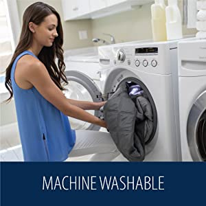 easy to clean machine washable