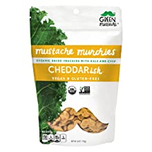 cheddar organic cracker snack gluten-free dairy-free vegan mustache