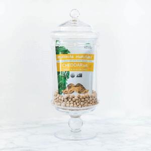 chickpeas cheddar mustache munchies plant-based organic snack cracker gluten-free dairy-free vegan