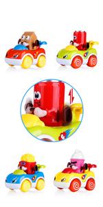 4 Set Toddlers Cartoon Push Go Car