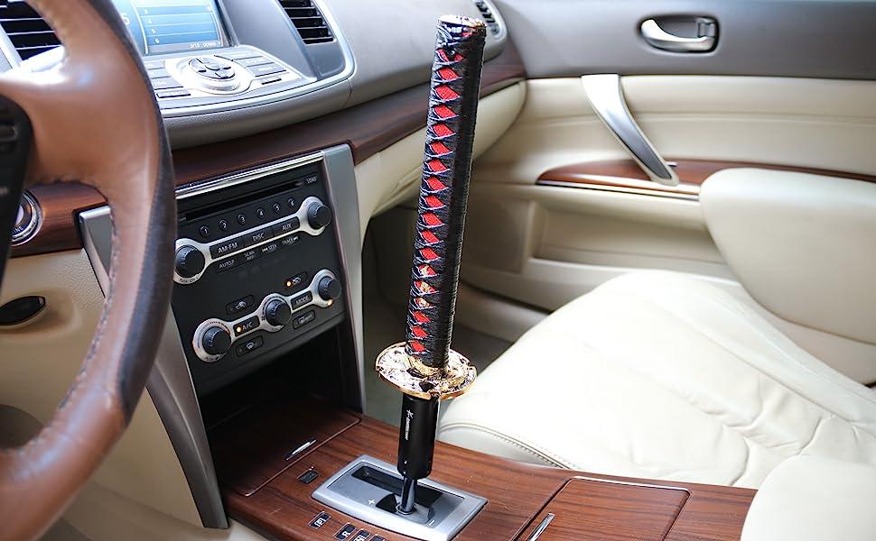 JDM Katana Samurai Sword Shift Knob Shifter 150mm W// Adapters Fits Most Cars