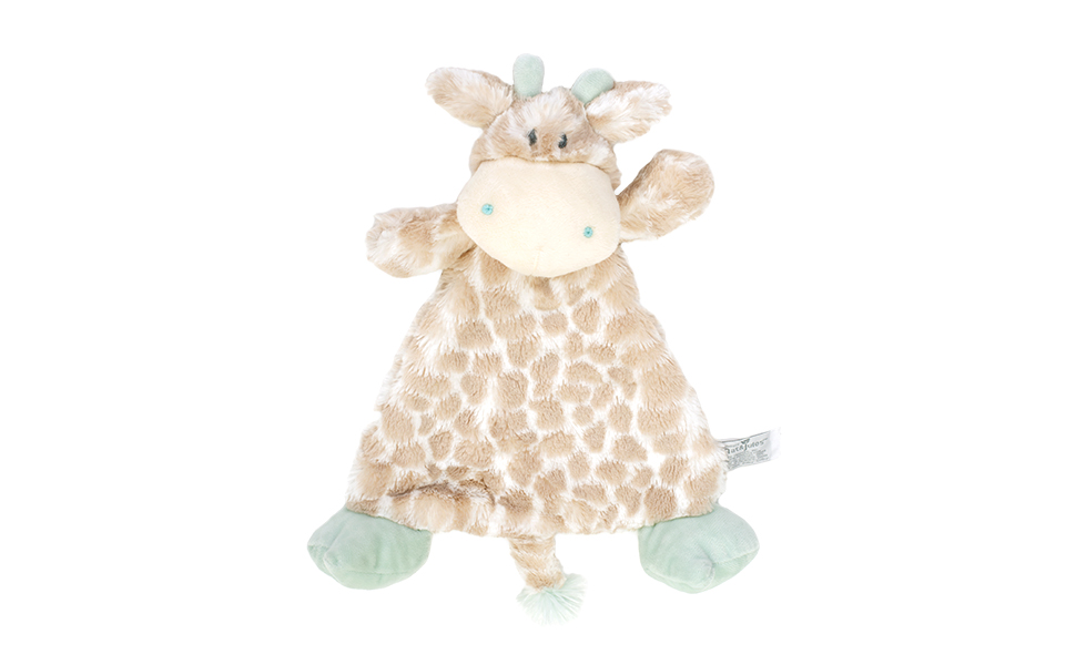 Luxurious Baby Super Soft Collection Blue Giraffe Blanket with Rattle
