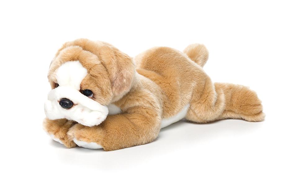Extra Large Hugging Soft Plush Cuddly Animal White /& Brown Bulldog Kids Toy New