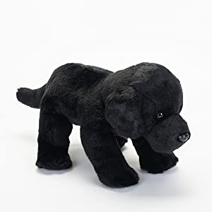 Nat and Jules Playful Large Black Labrador Dog Childrens Plush Stuffed Animal Toy