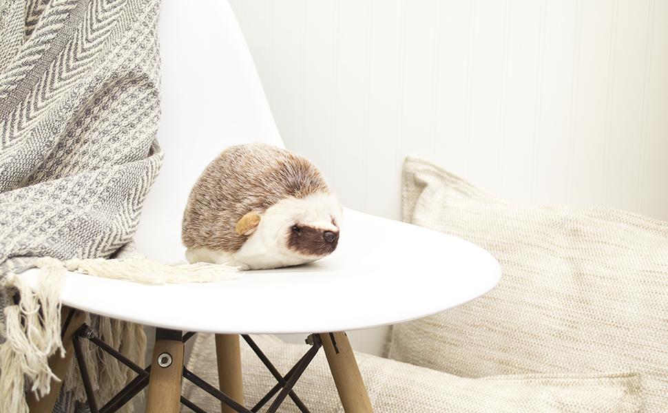 DEMDACO Huddled Small Hedgehog Children's Plush Stuffed Animal