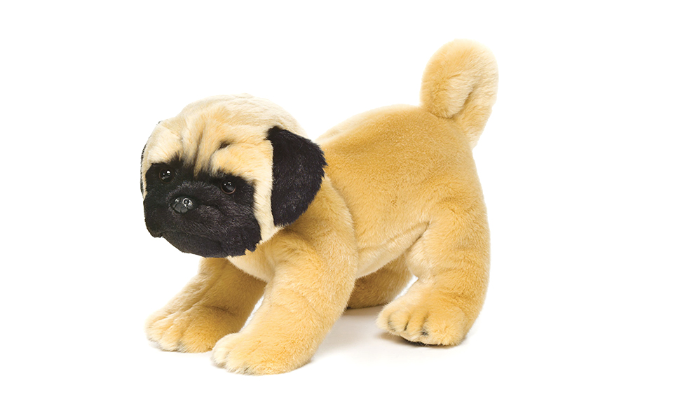 Nat and Jules Standing Large Pug Dog Children's Plush Stuffed Animal Toy