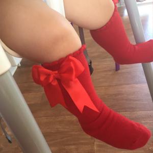 Pettigirl Girls Bow Socks Stretch Handmade Knee High Baby Socks Boutique