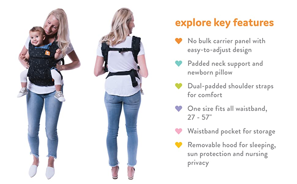 tula baby carrier 6 in 1 positions front forward facing lightweight ergonomic breathable cotton