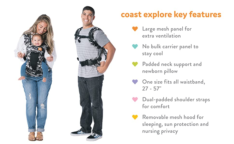 mesh baby carrier 6 in 1 positions front forward facing lightweight ergonomic summer breathable