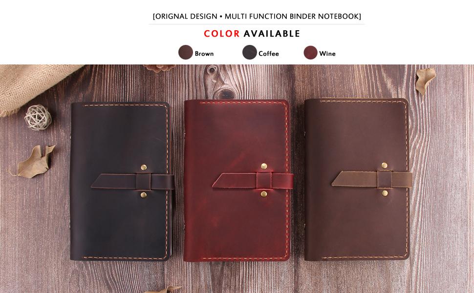 Amazon.com: Cuaderno de piel rellenable, 6 anillas ...