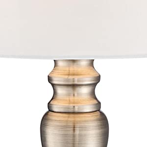 """Set of 2 Brass Finish 19 1/4"""" High Touch On-Off Table Lamps"""