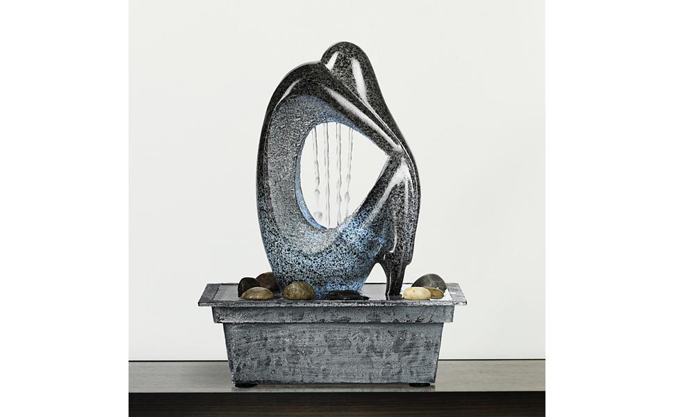 "Modern Silhouette 10"" High LED Tabletop Fountain"