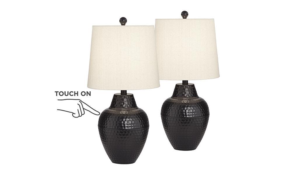 Amazon.com: Gomer - Juego de 2 lámparas de mesa LED de ...