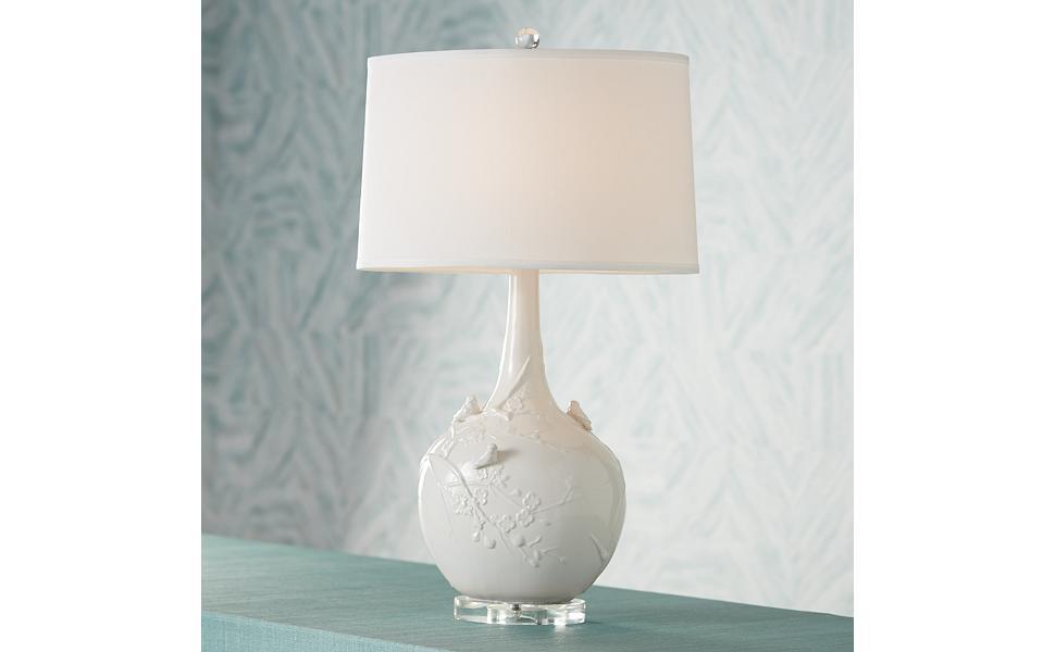 Amazon.com: Colección possini Euro blanco Sparrow lámpara de ...