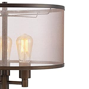 Franklin Iron Works Durango Floor Lamp with Edison Bulbs