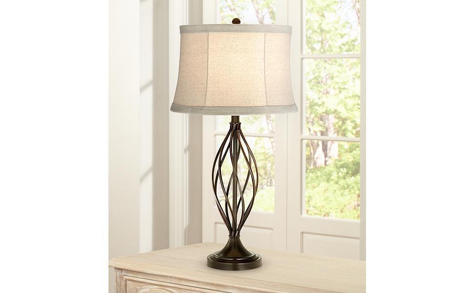 Liam Iron Twist Bronze Table Lamp
