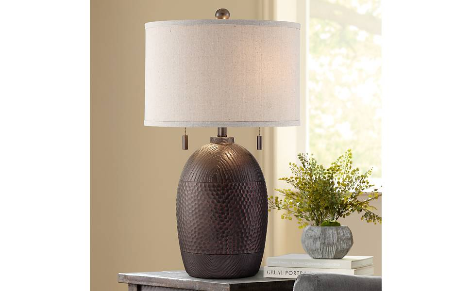 Franklin Iron Works Byron Pull Chain Table Lamp Amazon Com