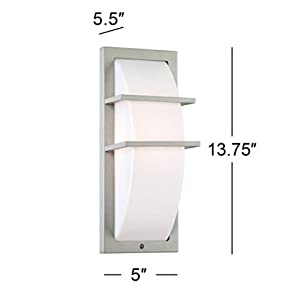 "Possini Euro Dualo 13 3/4"" High Silver Outdoor Wall Light"