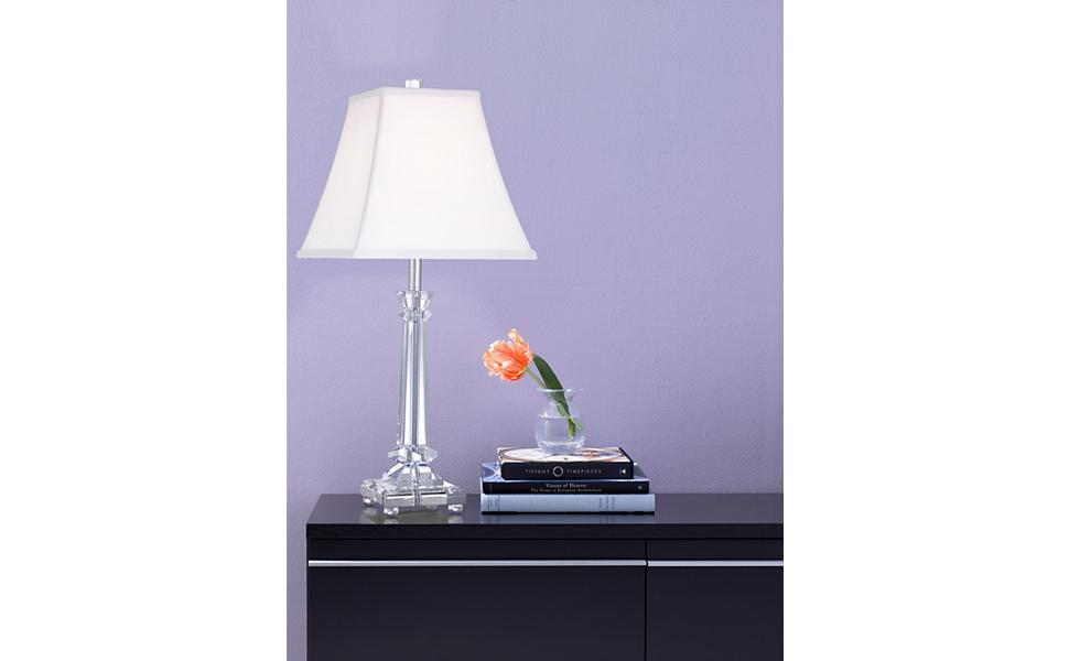 Tapered Crystal Column Lamp by Vienna Full Spectrum