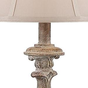 Elize Whitewash Candlestick Lamp Set of 2