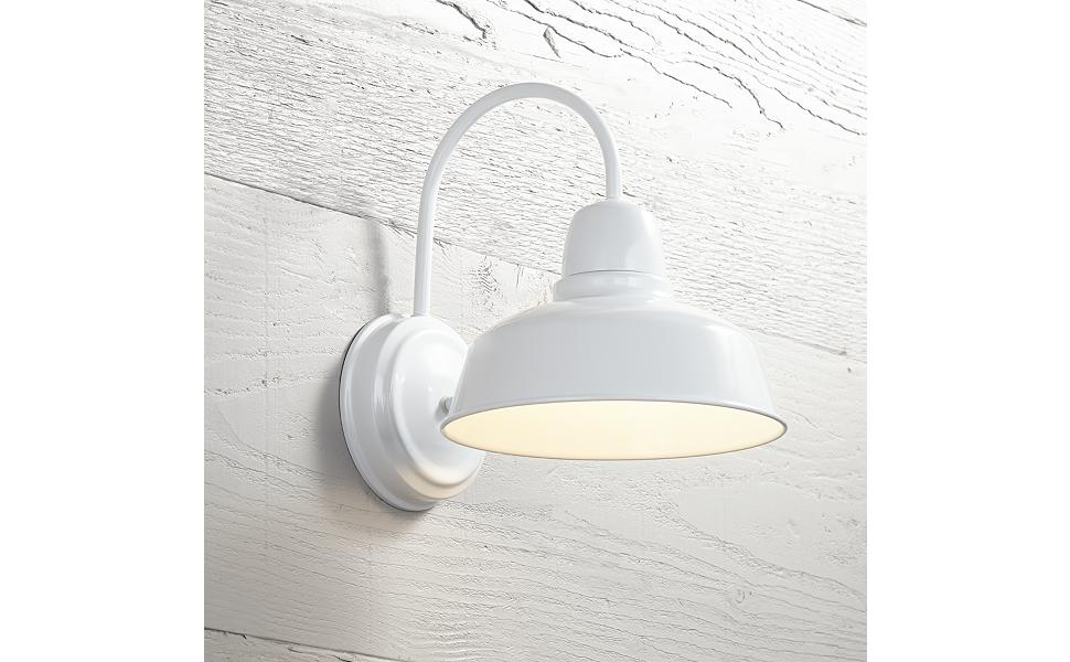 "Urban Barn Collection 13"" High White Outdoor Wall Light"