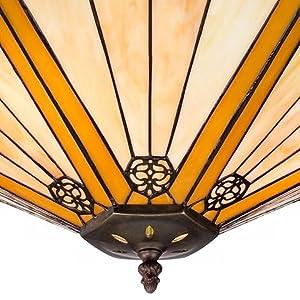 "Stratford 20 3/4"" Wide 3-Light Mission Tiffany Pendant Light"