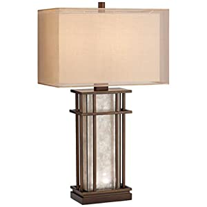 Rhodes Mica Glass Table Lamp with LED Night Lights
