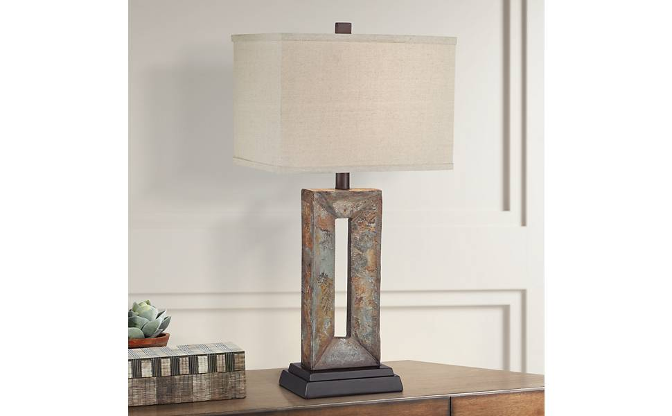 Tahoe Rustic Table Lamp Natural Stale Rectangular Box Shade For Living Room Family Bedroom Bedside Nightstand Office Franklin Iron Works Amazon Com,Shiplap Vs Tongue And Groove Exterior